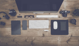 Top view responsive design mockup Stock Photos