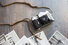 Top view of retro camera Stock Image