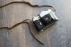 Top view of retro camera Stock Images