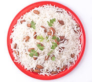 Top view of rice plate Stock Photos