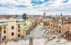 Top view of Riga, Latvia Stock Photos