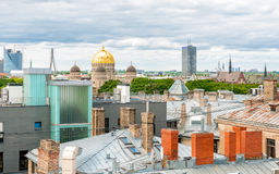 Top view of Riga, Latvia Royalty Free Stock Photos