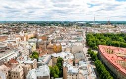 Top view of Riga, Latvia Stock Photo