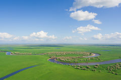 The top view on river Stock Images