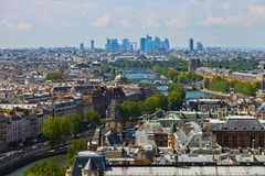 Top view river Seine Royalty Free Stock Image