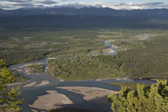 Top view of the river valley. Royalty Free Stock Image
