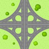 Top view of road junction. Stock Photos