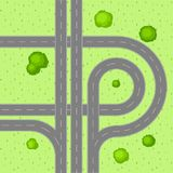 Top view of road junction. Royalty Free Stock Photos