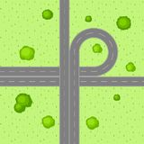 Top view of road junction. Royalty Free Stock Photography