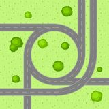 Top view of road junction. Royalty Free Stock Image