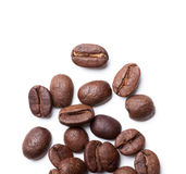 Top view on roasted coffee beans Royalty Free Stock Photo