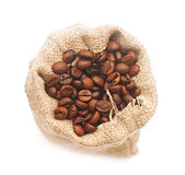 Top view of roasted coffee beans Stock Photography