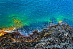 Top view of the rocky coast Royalty Free Stock Images