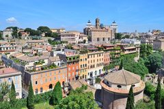 Top-view of Rome Royalty Free Stock Photo