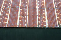 Top view roof rusted galvanized iron plate Stock Photo