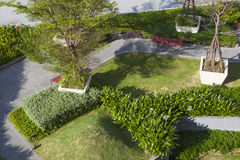 Top view of roof top garden Royalty Free Stock Photos