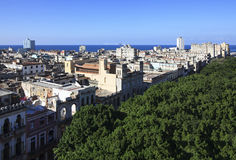 Top view on the roofs of buildings. Historic center of Havana. Cuba Royalty Free Stock Image