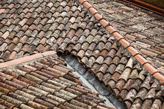 Top view of the roofs of houses Stock Photo