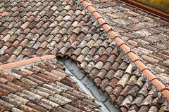 Top view of the roofs of houses Stock Photos