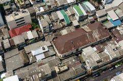Top View of Rooftops neighborhoods in Bangkok, Thailand Stock Photo