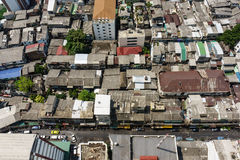 Top View of Rooftops neighborhoods in Bangkok, Thailand Royalty Free Stock Photos