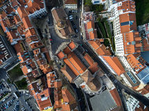 Top View of Rooftops and Santa Maria Maior (or Se Cathedral), Lisbon, Portugal Royalty Free Stock Photos