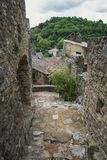 Top view of the rooftops of the village Saint Montan. In the Ardeche region of France Stock Images
