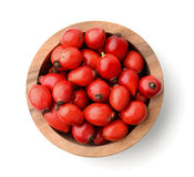 Top view of rose hips in bowl Royalty Free Stock Photography