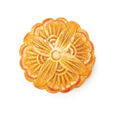 Top view of  round Chinese moon cake Royalty Free Stock Photo