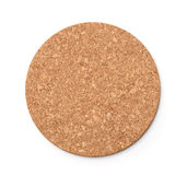 Top view of round  cork trivet Stock Photo