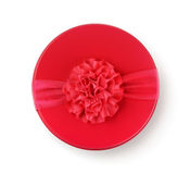 Top view of round gift box Royalty Free Stock Photo