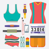 Top View Runner Gears. Top View Runner Gears Vector Illustration Stock Photo