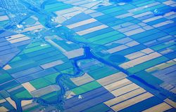 Top view of russian fields Royalty Free Stock Photography