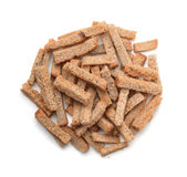 Top view of  rye rusk pile Stock Image