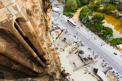 Top view from  Sagrada Familia in Barcelona Royalty Free Stock Photos