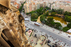 Top view from Sagrada Familia in Barcelona Stock Photography