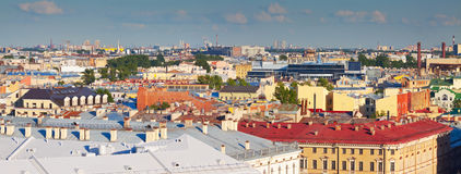 Top view of Saint Petersburg Stock Photos