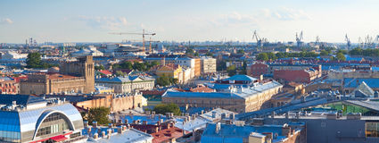 Top view of Saint Petersburg Royalty Free Stock Photography