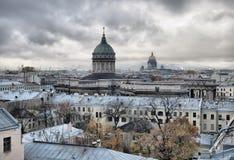 Top view of Saint-Petersburg. Russia Stock Photos