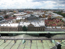 Top view of Saint Petersburg. View from above. Russia. View of Saint Petersburg from above. City center. Rooftops of Saint Petersburg Stock Photos