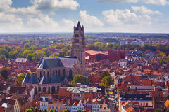 Top view of the Saint Salvator Cathedral Royalty Free Stock Photo