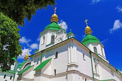 Top view of Saint Sophia Cathedral in Kyiv Stock Image