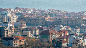Top view Saint Vlas, Bulgaria Stock Photo