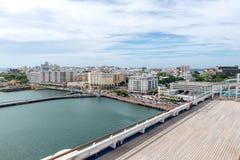 Top view of San Juan and Atlantic coast, Puerto Rico stock photos
