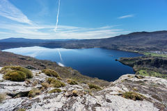 Top view of Sanabria lake & x28;Spain& x29; Royalty Free Stock Photography