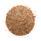 Top view of sand heap. Isolated on white royalty free stock photo