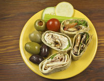 Top view of Sandwich wrap Stock Image