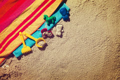 Top view of sandy beach Royalty Free Stock Images