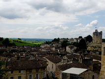 Top view of sant Emilion in France Stock Photo