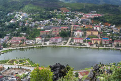 Top view of Sapa, Vietnam Stock Image